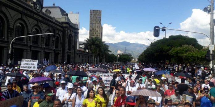 Jornada de marchas en Bogotá