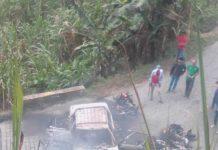 Cuatro carros incinerados en el Catatumbo por el EPL
