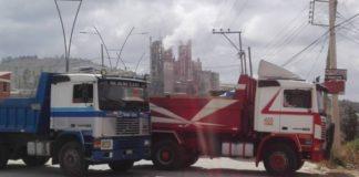 Volqueteros amenazan con bloquear Bogotá
