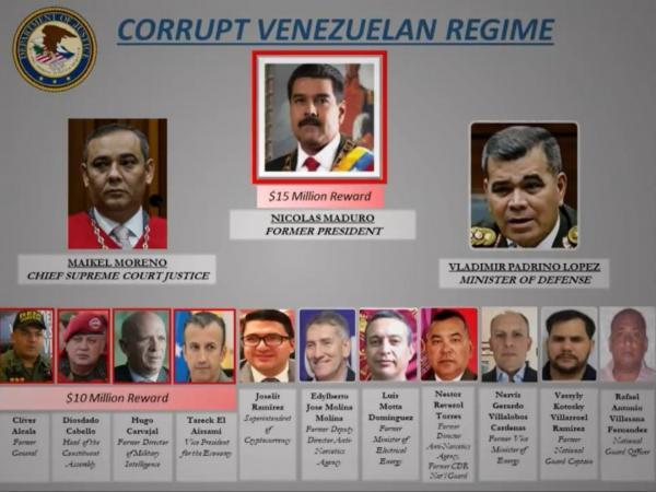 EE.UU. acusa a Nicolás Maduro de narcotráfico y ofrece una recompensa de US$15 millones por su captura