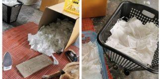 Lavan y planchan tapabocas para venderlos como nuevos